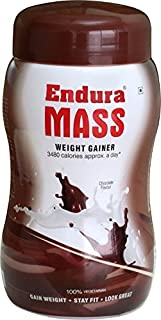 Endura Mass Weight Gainer 500gms- Chocolate Flavour by Endura