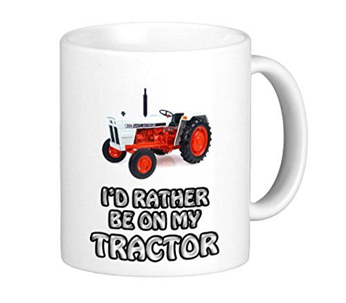 996 Vinatge Tractor Tasse mit Aufschrift I'd Rather Be On My David Brown