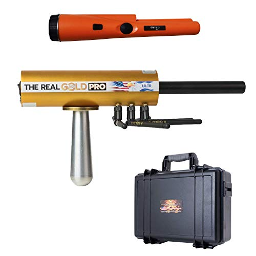 Real GOLD AKS PRO 2019 Long Range Precious Metal Detector - Authentic Gold Nugget and Gold Buried Detection System - Discover Valuable Treasure - with Free Pin Pointer