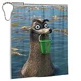 CANMA Gerald Finding Dory Finding NemO Duschvorhänge Wasserdichter Duschvorhang für Badezimmer Set mit Haken Hochleistungs-Badvorhang aus Stoff