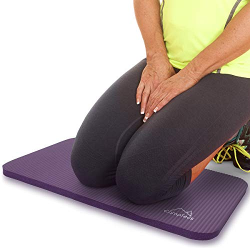 CampTeck U6963 - Yoga Knee Pad Colchoneta Yoga para Rodilla Antideslizante Espuma Suave Almohadilla Yoga para Fitness, Gimnasia, Pilates, etc. - Púrpura