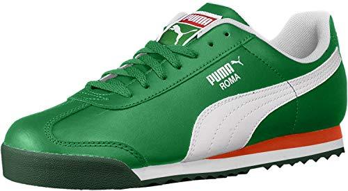 PUMA unisex child Roma Basic Sneaker, Verdant Green-puma White, 7 Big Kid US