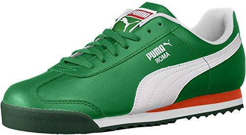 PUMA Unisex Roma Basic JR Sneaker Verdant Green White, 7 M US Big Kid