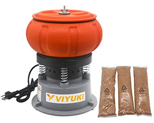 VIYUKI Electric 5LB Vibratory Tumbler Bowl Tumbling Polishing Machine - Polishing Small Metal Parts