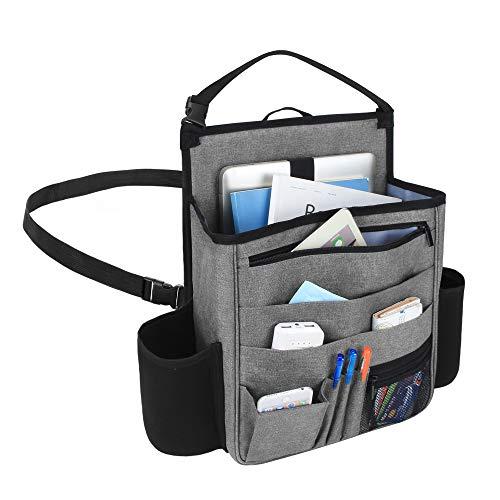 Luxja 車用収納ポケット 車 助手席 収納 多いポケット 撥水加工(グレー)