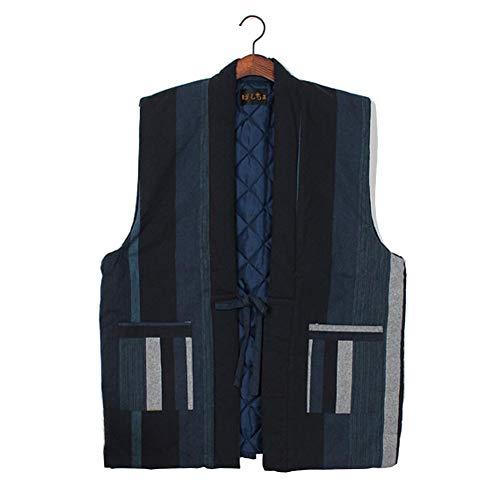 ZLININ Y-Longhair Unisex japanischer Kimono-Weste Winter verdicken Vest Startseite...