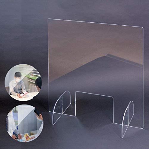 NDDDSD Schutzhustenschutz Plexiglas-Schild Zähler Lebensmittel-Fenster-Funktionen for Kunden Barriere gegen Coughing Niesende Kassierer, Clerk, Arbeiter (Size : 38 * 42cm)