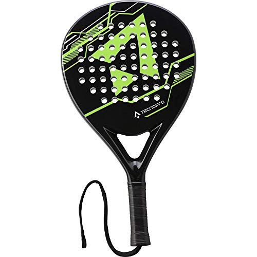 TECNOPRO Unisex – Erwachsene Te-Ball Padel Paddle Tennis, Black/Green/Lime/WHI, 1size