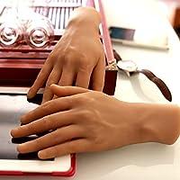 ルールー・手模型 最新版 リアル 1:1 実物大 男性 モデルさん ハンド モデル シリコン製・骨絡付き選択可能」撮影 商品販売 教学用 MF013 (骨絡付属なし, 左手)