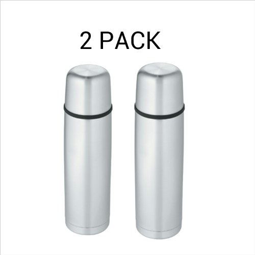 Thermos Nissan FBB1000P6 34-Ounce Stainless-Steel Vacuum Insulated Briefcase Bottle 2 PACK