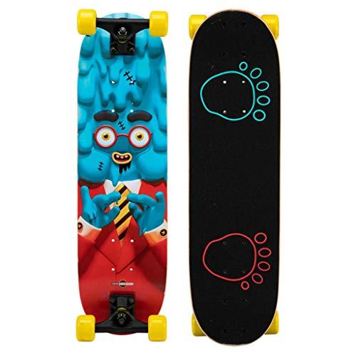 Skateboarden Kinder Anfänger Baby Junge Profi Board Mädchen Double Tilt Allrad Roller Für Kinder Konzipiert (Color : A, Size : 70 * 20cm)