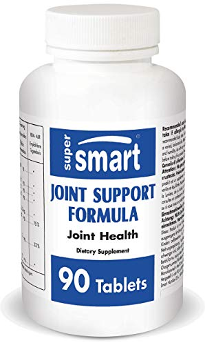 Supersmart - Joint Support Formula - Con Glucosamina, Condroitina, Acido ialuronico & MSM - Supporta la Salute delle Articolazioni - Antidolorifico | No-OGM - 90 Compresse