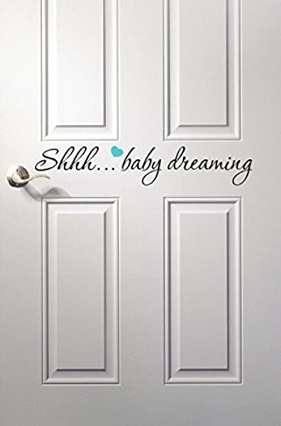 Baby Dreaming Wall Decal Quote Nursery Room Decor Nursery Wall Decals Baby Room Decoration Vinyl 18inches