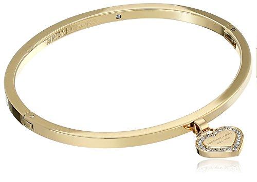 Michael Kors Logo Gold-Tone Bangle Bracelet