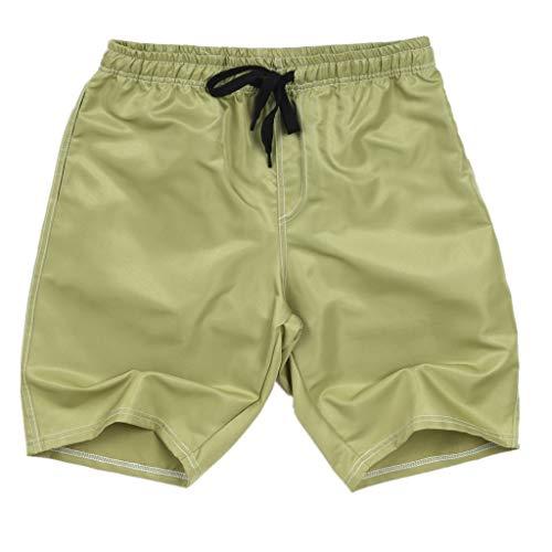 Xmiral Shorts Herren Badehose Einfarbig Lässig Sportlich Groß Strand Kurze Hosen Boxing Shorts Sweatshorts Sportshorts Chino-Hose(Armeegrün,5XL)