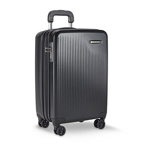Briggs & Riley Sympatico-Hardside CX Expandable Carry-On Spinner Luggage, Black, 21-Inch