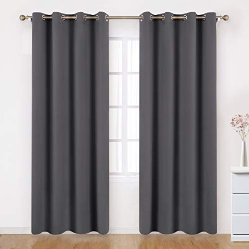 BYSURE Grey/Gray Blackout Curtains