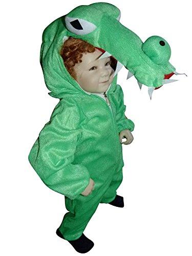 AN64 Gr. 76-84 Costume de crocodile, costume de carnaval de crocodile, costume de crocodile, pour les enfants, garçons, filles, pour le carnaval, aussi comme cadeau pour un anniversaire ou Noël