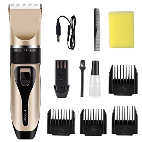 Professional Hair Clippers Facial Trimmers, Draadloze Clippers Baard Shaver Electric Haircut Kit met Combs, voor mannen en familie
