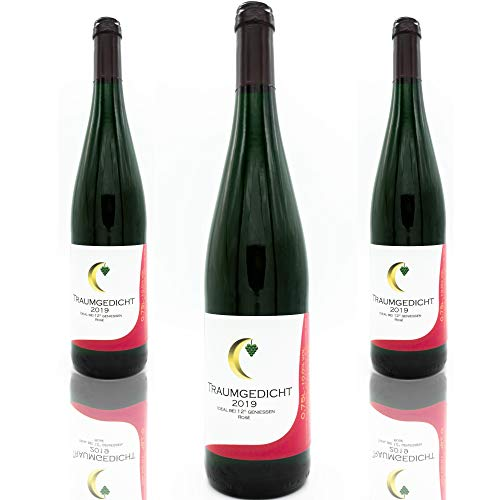 Traumgedicht Rosé für fruchtigen Genuss, fruchtig süß mit intensivem rosé farbton, 10,0%, Dornfelder, Spätburgunder, mild, für gemütliche Abende im Sommer (3x0,75l)