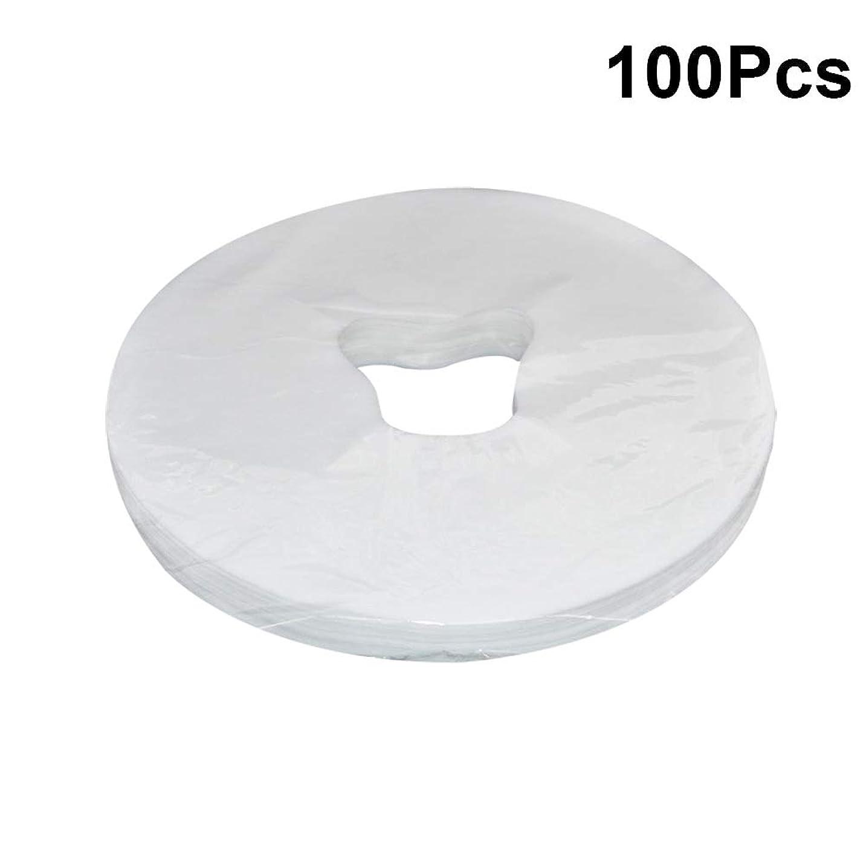 毛皮バレーボールジュースHEALIFTY 29×28センチメートル使い捨てフェイスマッサージカバーパッドフェイスホールピローマット用スパ100シート