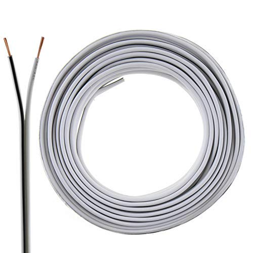 2 Core Speaker Cable 2 x 0.50mm Wire Ideal for Car Audio & Home HiFi MKGT 10 20 50 100 Metres (10 Metres, White)