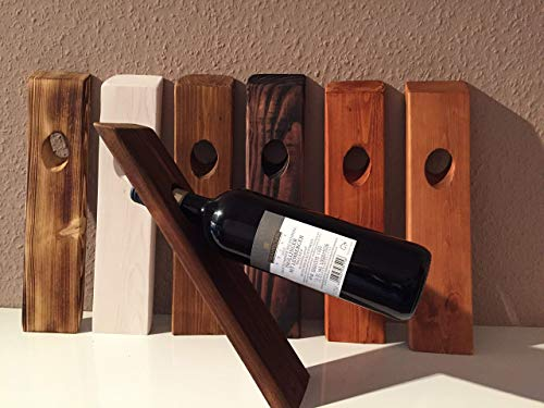 """Palettenmöbel Schwebende Weinflasche """"Modena"""" aus Europaletten Dekor Accessoires"""