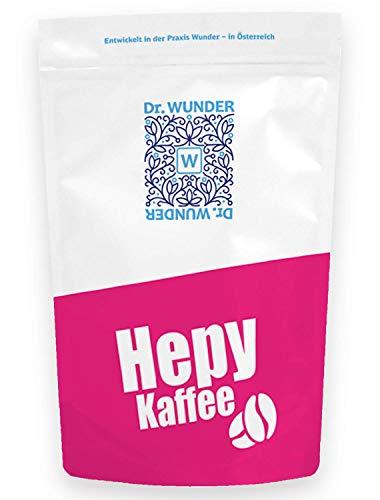 Dr. Wunder® Hepy-Kaffee 250g: Grüner/Goldener Spezial-Kaffee | besonders hoher Gehalt an Koffein und Palmitinsäure | für den Kaffee-Einlauf geeignet