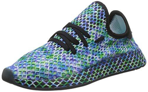 adidas DEERUPT Runner, Scarpe da Ginnastica Uomo, Nero (Core Black/Core Black/Hi/RES Aqua Core Black/Core Black/Hi/RES Aqua), 48 2/3 EU