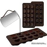 2er Set Silikon-Pralinenformen Nur Herzen – Silikonform (BPA-frei) für Schokolade