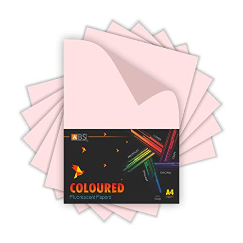Freelance Enterprise ABS brand Florescent paper - A4 Size - Light Pink (Pack of 100)