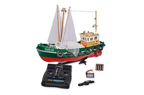 Carson Fischkutter Cux-15 2.4G 100% RTR, Ferngesteuertes, RC Boot, mit Funktionen, inklusive Fernsteuerung, Sicherheitsschaltung, 500108031