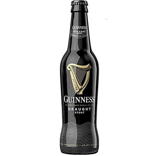 Guinness Draught Stout | Birra Irlandese | Confezione 24 Bottiglie 33Cl | Idea Regalo