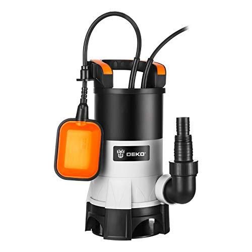 Pompe à eau submersible électrique DEKO 750W avec interrupteur à flotteur et débit maximal 14000L / H pour l'irrigation de piscine, de baignoire et de jardin