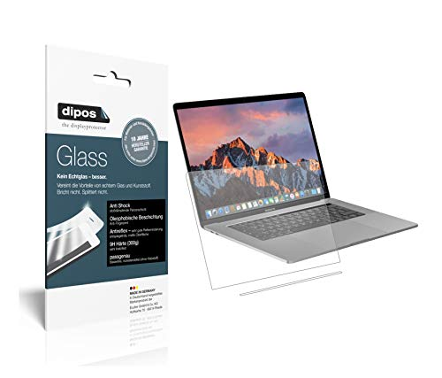 dipos I 2X Panzerfolie matt kompatibel mit Apple MacBook Pro 13 Zoll (2019) Touchbar Schutzfolie 9H Bildschirmschutz-Folie