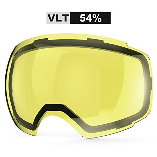 ZIONOR Lagopus X4 Ski Snowboard Snow Goggles Replacement Lenses (VLT 54% Bright Lens)