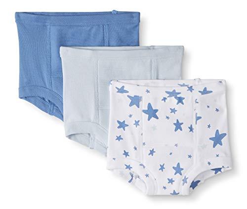 Hanna Andersson Moon and Back Lot de 3 Culottes d'apprentissage pour tout-petits, enfants, bleu, 4-5 ans (97-117 CM)