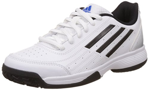 adidas Performance Unisex-Kinder Sonic Attack K Tennisschuhe, Weiß (Ftwr White/Core Black/Matte Silver), 33 EU
