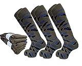Lucchetti Socks Milano 6 PAIA calze TERMICHE lunghe calzini UOMO lunghi in COTONE FELPATO termico (EU 39-42 UK 6-8, 6 PAIA MIMETICI TUTTI VERDI)