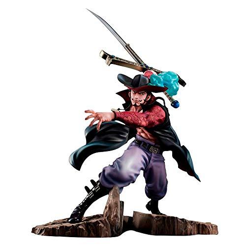 Figura de Dracule Mihawk de una Pieza de Anime de 34 cm con Efectos Especiales de Combate Ver. PVC Zoro Sensei colección de Figuras de acción Modelo Anime Figura nendoroid niños Juguetes Figuras Ace