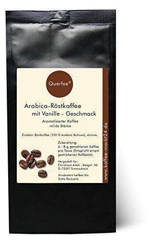 Kaffee Vanille Geschmack - Arabica Röstkaffee mit Vanille Geschmack - gemahlen (250 g)