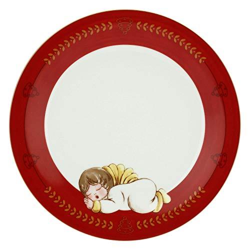 THUN ® - Piattino Dolce Natale con Angelo sdraiato