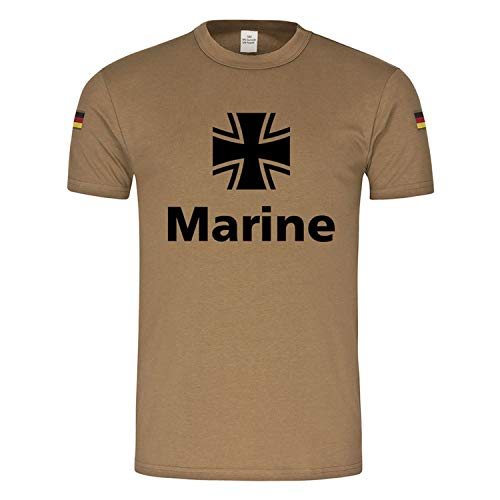 Copytec BW Tropen Marine Bundesmarine BW Bundeswehr Wappen Kreuz Tropenshirt #23648, Größe:M, Farbe:Khaki