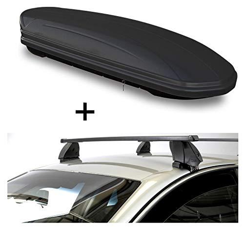 Dakbox VDPMAA460 460 liter zwart mat afsluitbaar + imperiaal K1 MEDIUM compatibel met Dodge Ram 1500 (4-deurs) vanaf 09