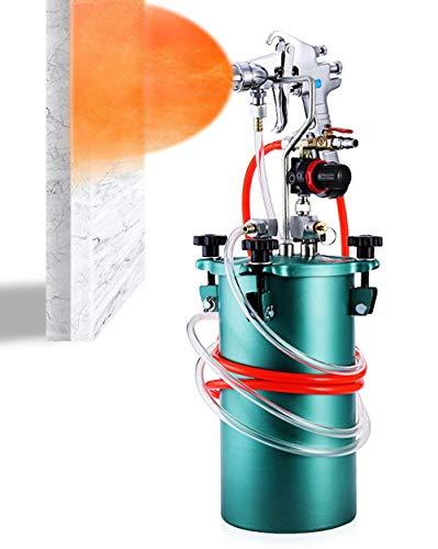YJINGRUI 5L Tanque de Presión Pintura Pistola Pulverizadora Pintura con Boquilla de 3 mm Mangueras Manómetro para Pintura Multicolor de Látex Pintura Industrial Comercial