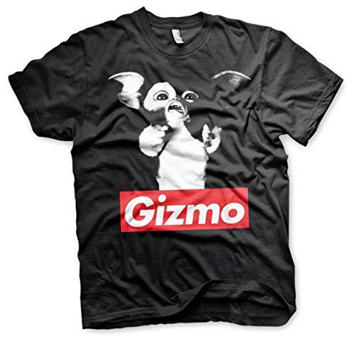 GREMLINS Offizielles Lizenzprodukt Gizmo Herren T-Shirt (Schwarz), Large