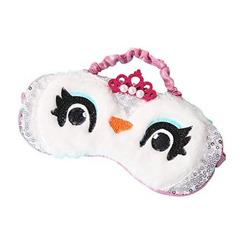 Demarkt Nettes Pinguin Schlafmaske Plüsch Augenmaske Für Schlaf Reisen Atmungsaktive Eyeshade Weichem Plüsch Cartoon Schlafmaske für schlafende Mädchen Frauen Kinder size 19 * 10cm (Stil 1)