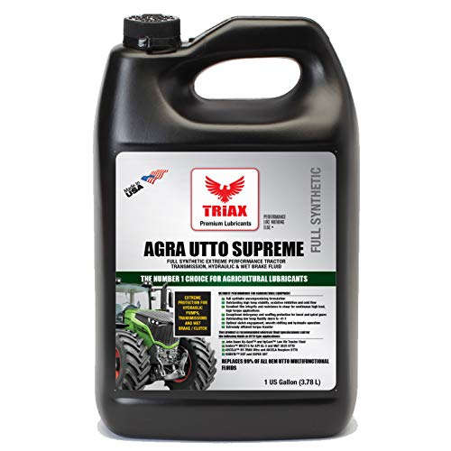Triax Agra UTTO Supreme Universal Full Synthetic Tractor Hydraulic Transmission and Wet Brake Oil, All Season, Replaces 99% of OEM Tractor Fluids, Arctic Grade -52 F Cold Flow (1 Gallon)