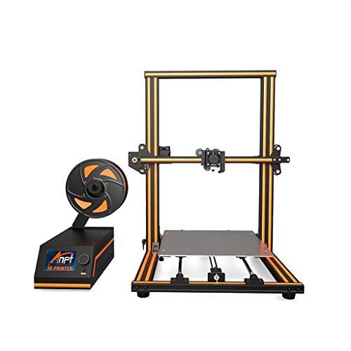 Imprimante 3D avec des raccords en Aluminium Facile à Installer, la Structure raisonnable et Travail Stable 300 * 300 * 400mm (Color : Orange)