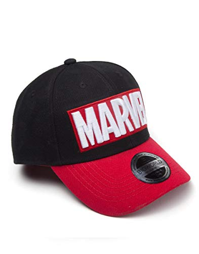 Marvel Logo Officiel de la Brique Rouge Red Curved Bill Snapback Cap Hat